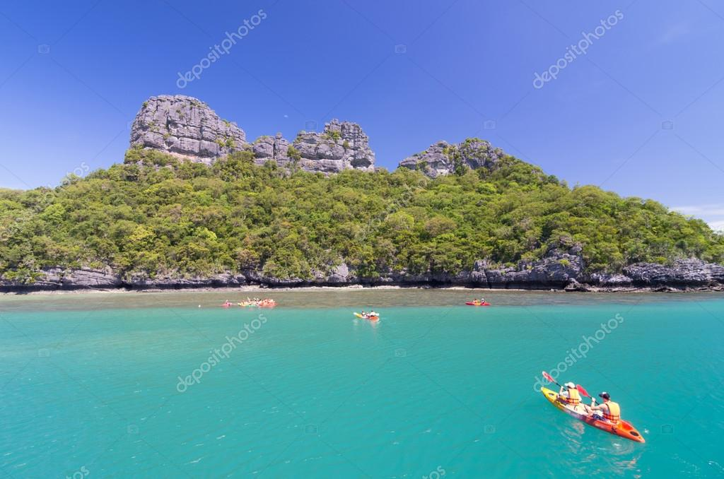 KOH SAMUI, THAILAND - JUNE 29 : two undefined traveler are ...