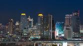 Bangkok cityscape,modern building at twilight time — Stock Photo
