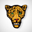 Art cartoon tiger head — Stock Vector
