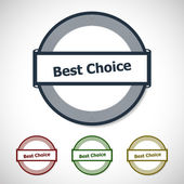 Best choice badges — Stock Vector
