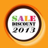 Vector art color discount sale summer round background — Vector de stock