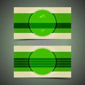 Green modern Business card — Stock Vector