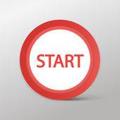 Avviare l'icona web — Vettoriale Stock
