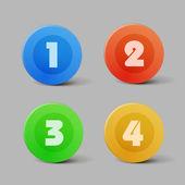 Color progress buttons — Stock Vector