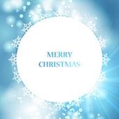 Vector blue Christmas backgroun — Stock Vector