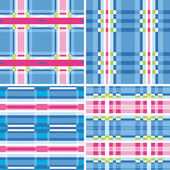 Set seamless checkered pattern — ストックベクタ