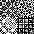 Set seamless damask pattern — Image vectorielle