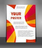 Streszczenie plakat z promieni — Wektor stockowy