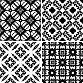 Set seamless damask pattern — Stock Vector