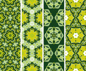 Set seamless floral pattern — Vector de stock