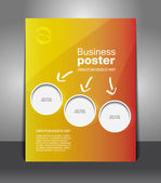 Vector business poster — Stock Vector
