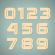 Retro geometric numbers — Stock Vector