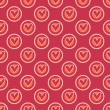 Retro heart seamless pattern — Stockvectorbeeld