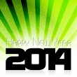 Happy New Year 2014 background — Stock Vector