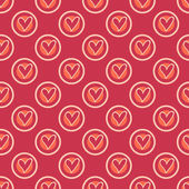 Retro heart seamless pattern — Stock Vector