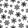 Stock Vector: Seamless pattern snowflake