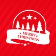 Merry Christmas greeting red card — Stock Vector