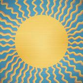 Retro abstract sun — Stok Vektör