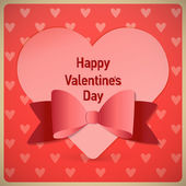 Valentine's day card vector background — Vector de stock