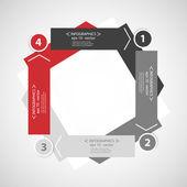 Design template infographics — Stock Vector