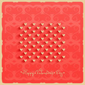 Valentine's day vector background — ストックベクタ