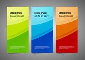 抽象的なプロとデザイナーのカード — ストックベクタ