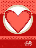 Beautiful vintage Valentine's Day Flyer — Stock Vector