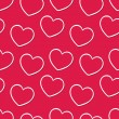 Seamless vintage hearts pattern background — Stock Vector