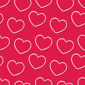 Seamless vintage hearts pattern background — ストックベクタ