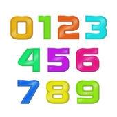 Set retro style numbers — Stock Vector