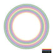 Vector rainbow creative Emblem background — Stock Vector