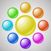 Set of colorful blank web buttons — Stock Vector