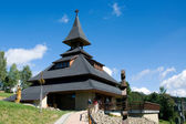 New modern belfry on the hill Solan, Moravian Beskydy Mountains, Czech Republic — Stok fotoğraf