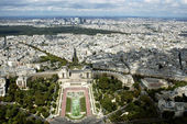 View from the Eiffel Tower at Paris — Stock Photo
