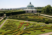 Flower garden of Castle in Kromeriz, Czech Republic — Stock Photo