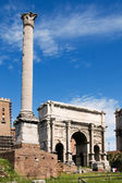 Triumphal Arch of Titus in the Roman Forum — Stock Photo