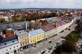 Prostejov from the town hall tower, Czech Republic — Stock Photo