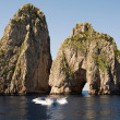 Faraglioni Rock formation on island Capri    — Stock Photo