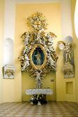 Interior of church of Saint Mark in Litovel — Foto Stock