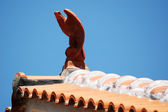 Decorations on rooftops in Greece. — Stock Photo