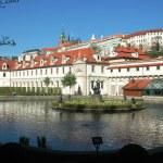 The Prague Castle from the Wallenstein Garden — Stock Photo