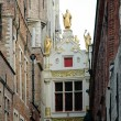 Stock Photo: Medieval architecture in city of Bruges