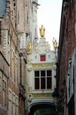 Medieval architecture in the city of Bruges — Stock fotografie
