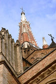 Medieval architecture in the city of Bruges — Stock Photo