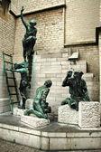 Statue of the Builders, Antwerp — Foto Stock