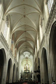 Nave of the Catedral in Antwerp — Stock Photo