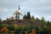The pilgrimage church on the hill of Uhlirsky near Bruntal — Stockfoto