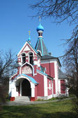Small orthodox church in the village Rimice — Stock Photo