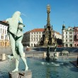Stock Photo: Arion Fountain at Upper Square in Olomouc, Czech Republic
