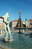 The Arion Fountain at Upper Square in Olomouc, Czech Republic — Stock Photo